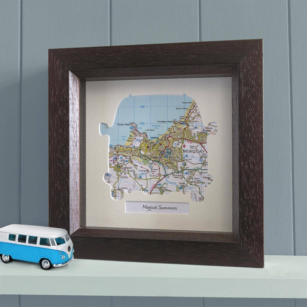 Wall Art - Personalised Framed Camper Van Map Personalised Framed Camper Van Map