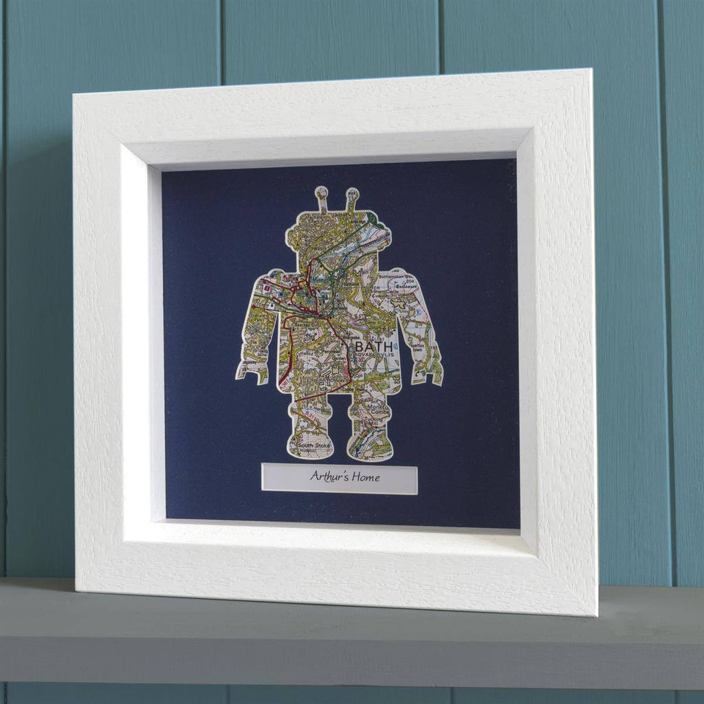 Wall Art - Personalised Framed Robot Map