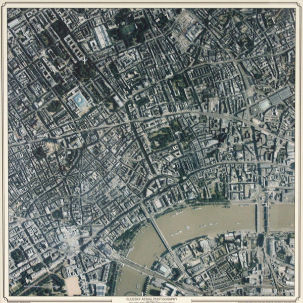 Wall Map - Aerial Photograph – Centred On Your Home