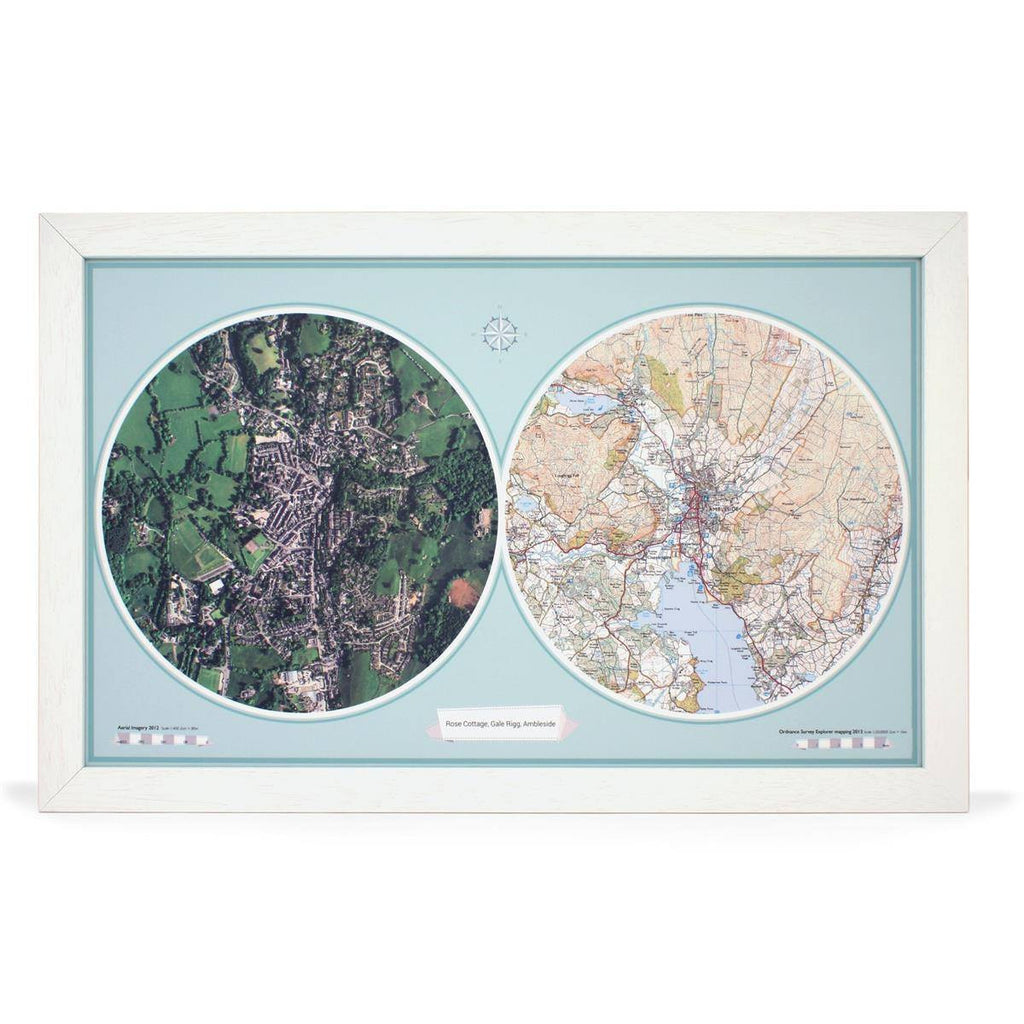 Wall Map - Aero-Carto Framed Wall Map