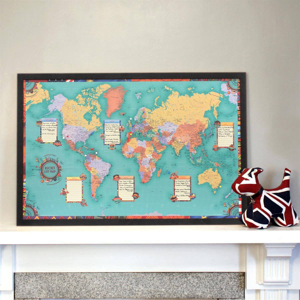 Wall Map - Bucket List World Wall Map