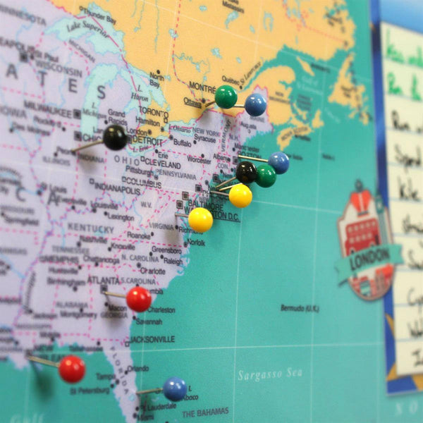 Wall Map - Bucket List World Wall Map Bucket List World Wall Map