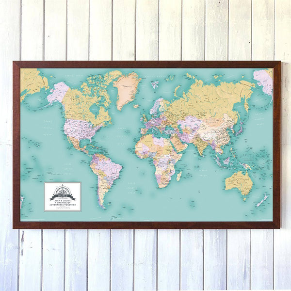 Wall Map - Copy Of Personalised World Traveller Map Copy of Personalised World Traveller Map