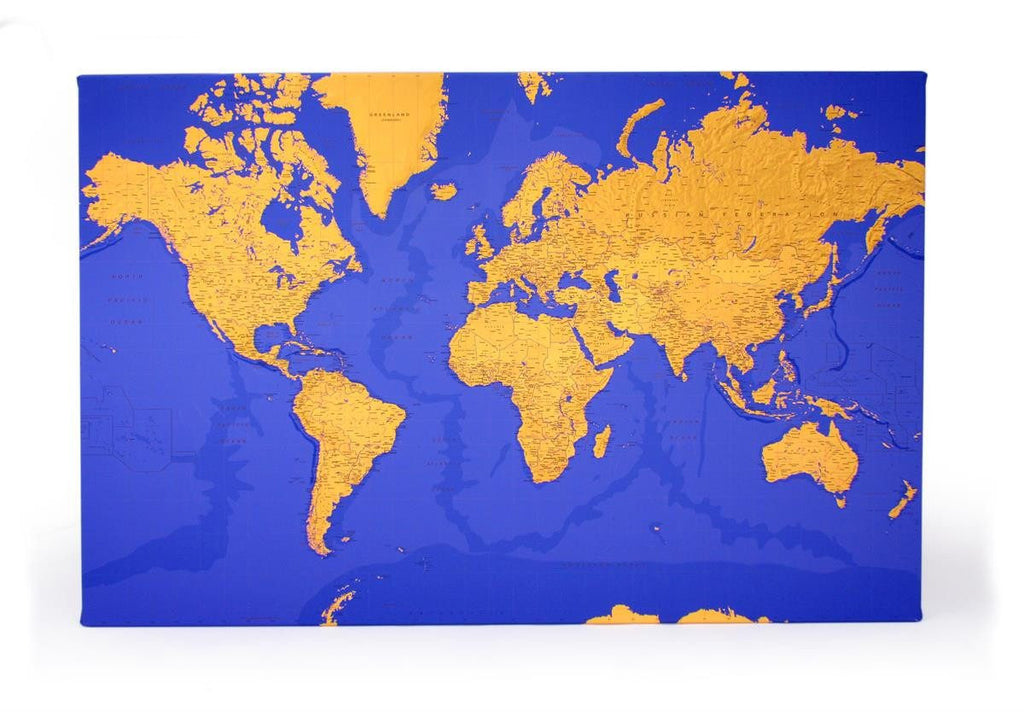 Duo tone canvas world maps butler and hill butler and hill uk wall map duo tone canvas world wall maps gumiabroncs Choice Image