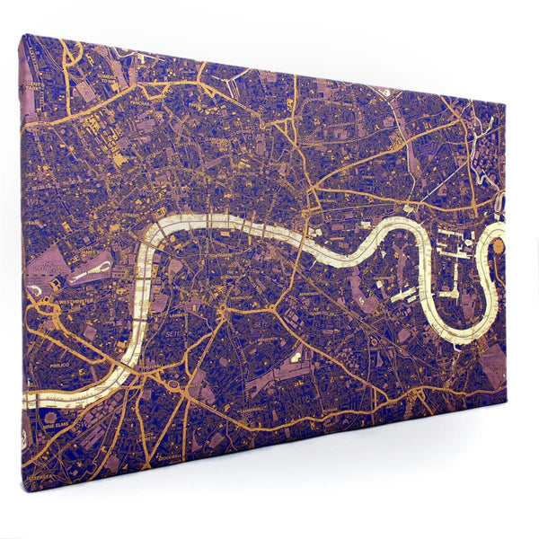 Wall Map - Duo-tone London Canvas Maps