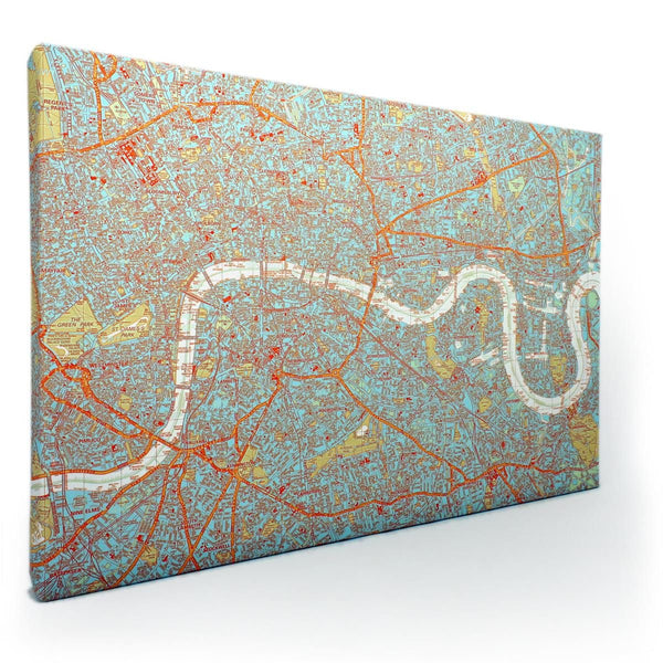 Wall Map - Duo-tone London Canvas Maps Duo-tone London Canvas Maps