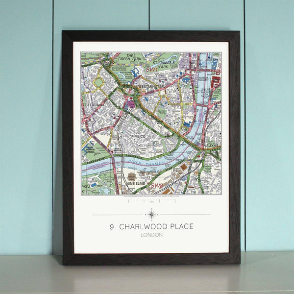 Wall Map - My Home Is Here - Personalised Wall Map My Home is Here - Personalised Wall Map