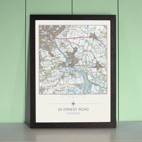 Wall Map - My Home Is Here - Personalised Wall Map