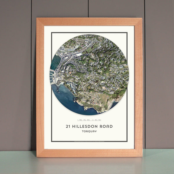 Wall Map - My Home Is Here - Personalised Wall Map (Circle)
