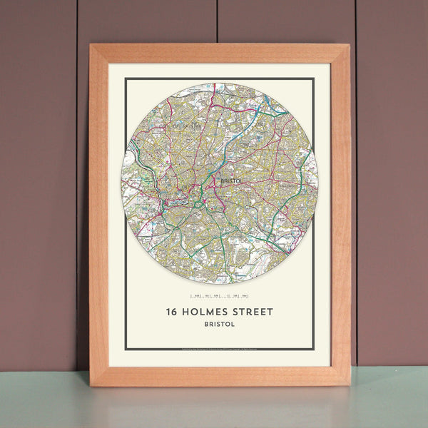 Wall Map - My Home Is Here - Personalised Wall Map (Circle) My Home is Here - Personalised Wall Map (Circle)