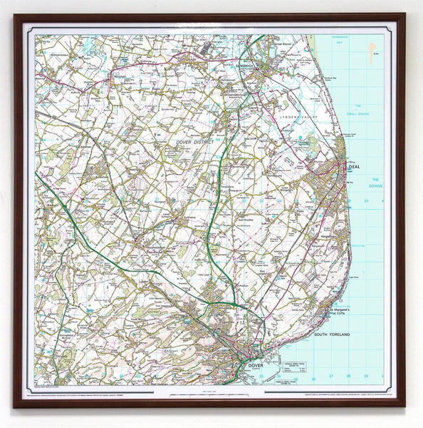 Wall Map - Ordnance Survey Landranger Map Centred On Your Home