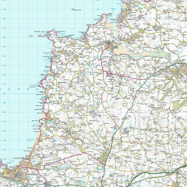 Wall Map - Ordnance Survey Landranger Map Centred On Your Home Ordnance Survey Landranger Map Centred on Your Home
