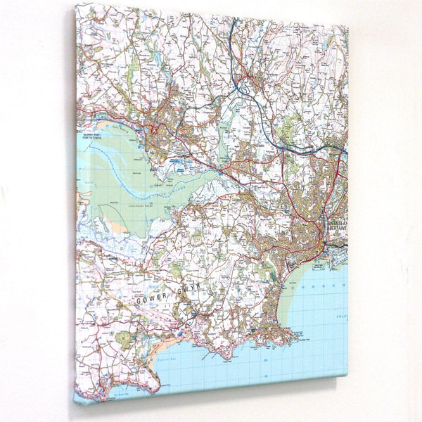 Wall Map - Personalised Canvas Maps