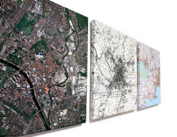 Wall Map - Personalised Canvas Maps Personalised Canvas Maps