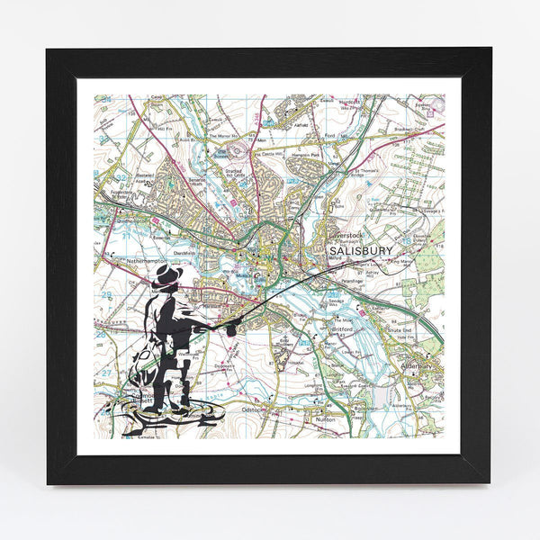 Wall Map - Personalised Fly Fishing Adventure Map