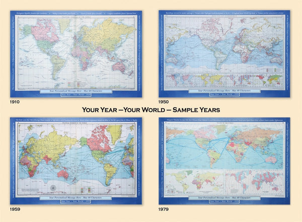 Wall Map - Personalised Historic World Wall Map