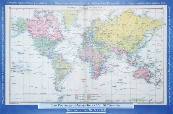 Wall Map - Personalised Historic World Wall Map Personalised Historic World Wall Map