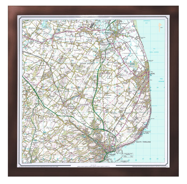 Wall Map - Personalised Ordnance Survey Landranger Map - Centred On Your Home