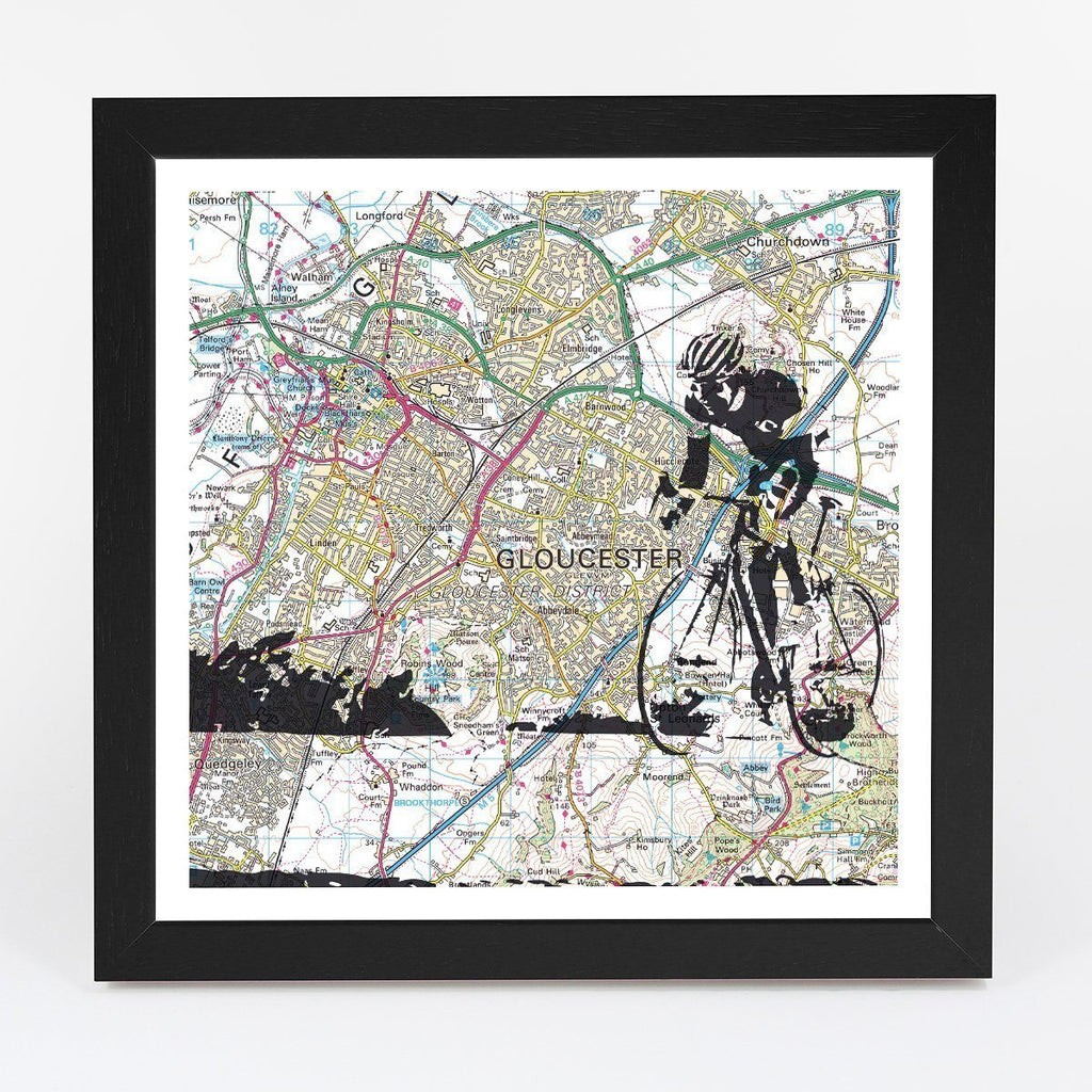 Wall Map - Personalised Road Cycling Adventure Map