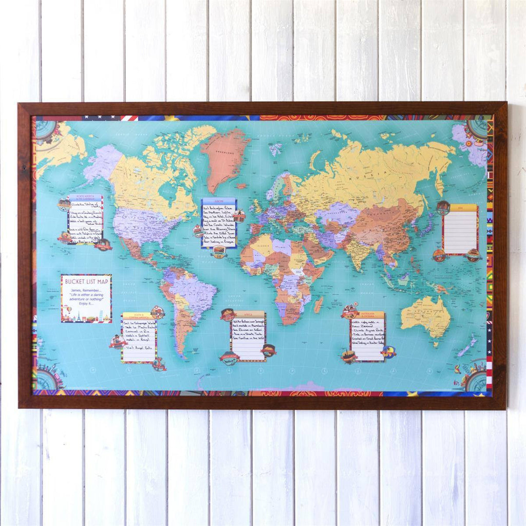 Wall Map - Personalised World Bucket List Map