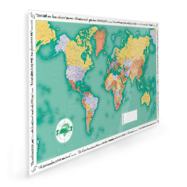 Wall Map - World Traveller Wall Map