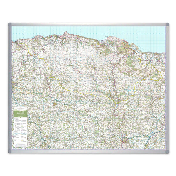 Wall Maps - Exmoor - UK National Park Wall Map Exmoor - UK National Park Wall Map