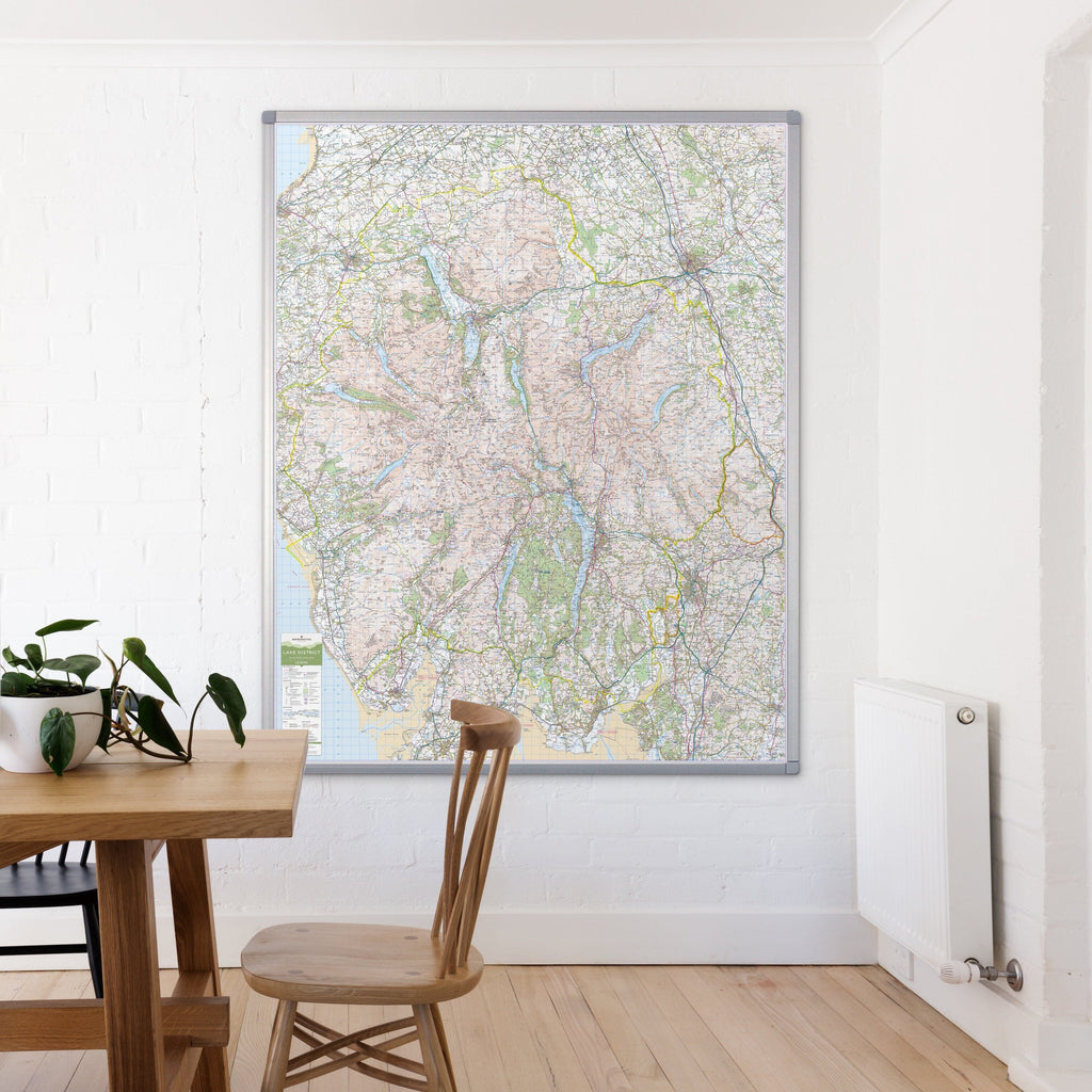 Wall Maps - Lake District - UK National Park Wall Map