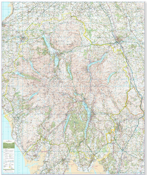 Wall Maps - Lake District - UK National Park Wall Map Lake District - UK National Park Wall Map
