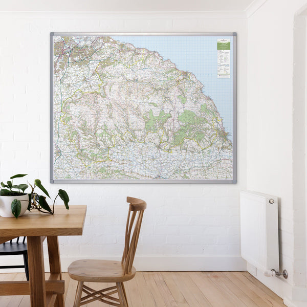 Wall Maps - North York Moors - UK National Park Wall Map