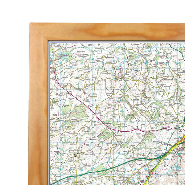 Wall Maps - North York Moors - UK National Park Wall Map North York Moors - UK National Park Wall Map