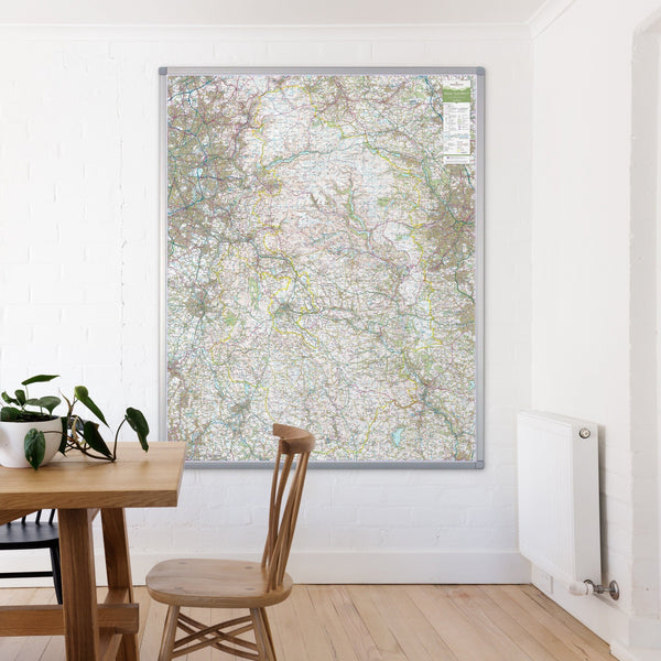 Wall Maps - Peak District - UK National Park Wall Map Peak District - UK National Park Wall Map