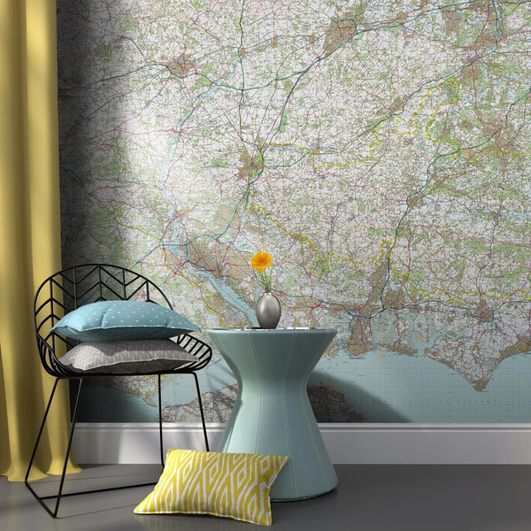 Wall Paper - Customised Map Wallpaper - Landranger Mapping Customised Map Wallpaper - Landranger Mapping