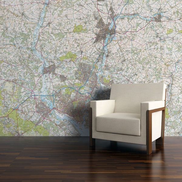 Wall Paper - Personalised Map Wallpaper - Explorer Mapping Personalised Map Wallpaper - Explorer Mapping