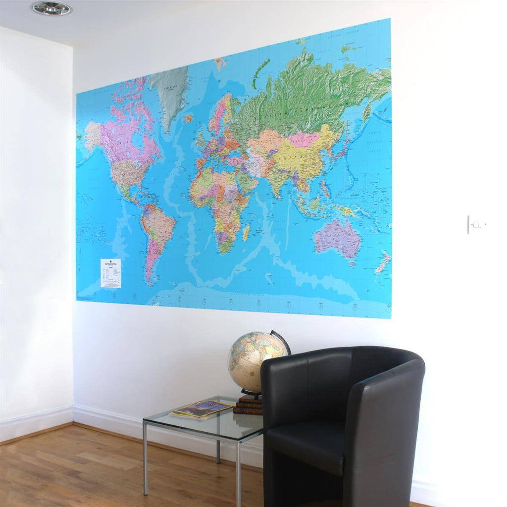 World map wallpaper map gifts butler and hill wall paper world map repositionable wallpaper gumiabroncs Images