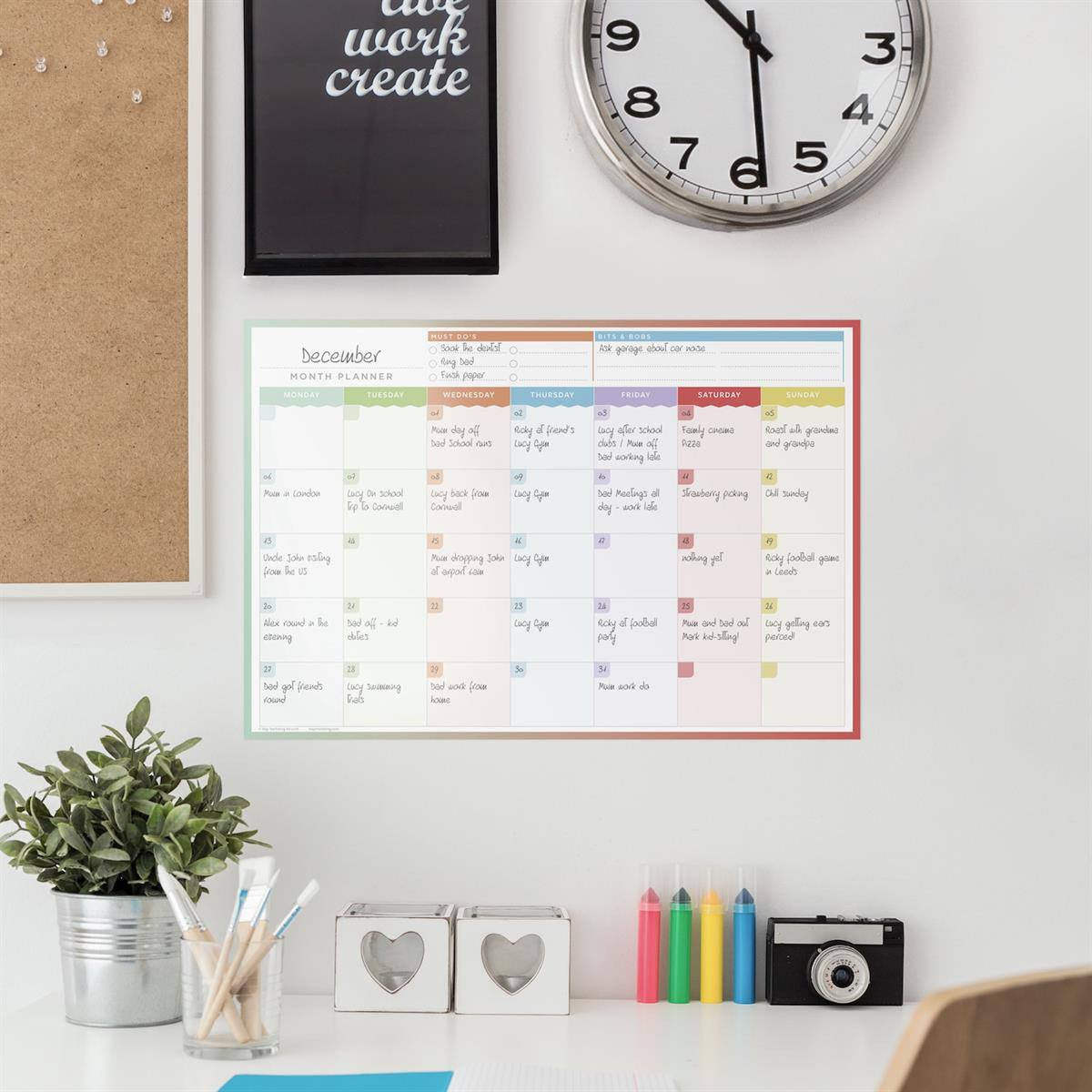 Month Planner - Laminated Wall Planners