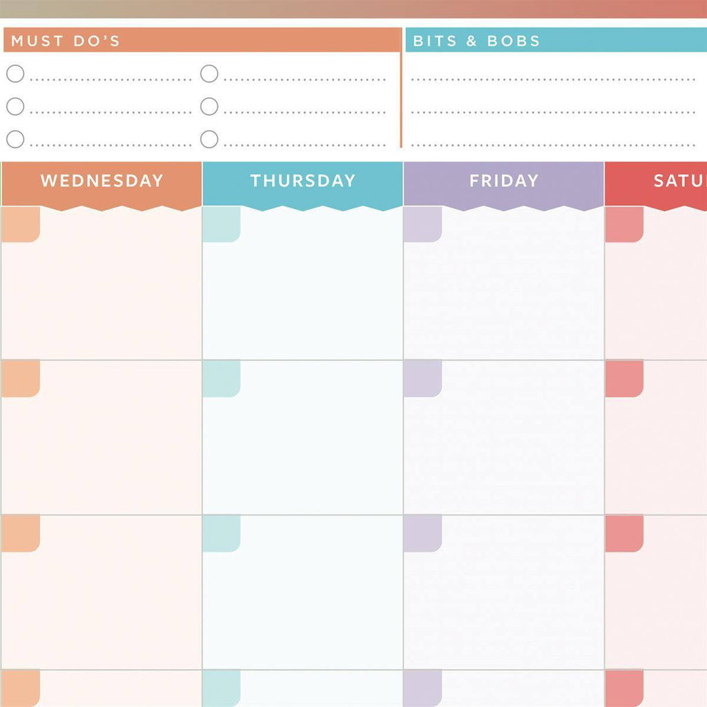month planner colourful reusable month planner