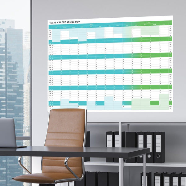 Wall Planner - Tax Planner - 2018/19 Giant Fiscal Wall Planner