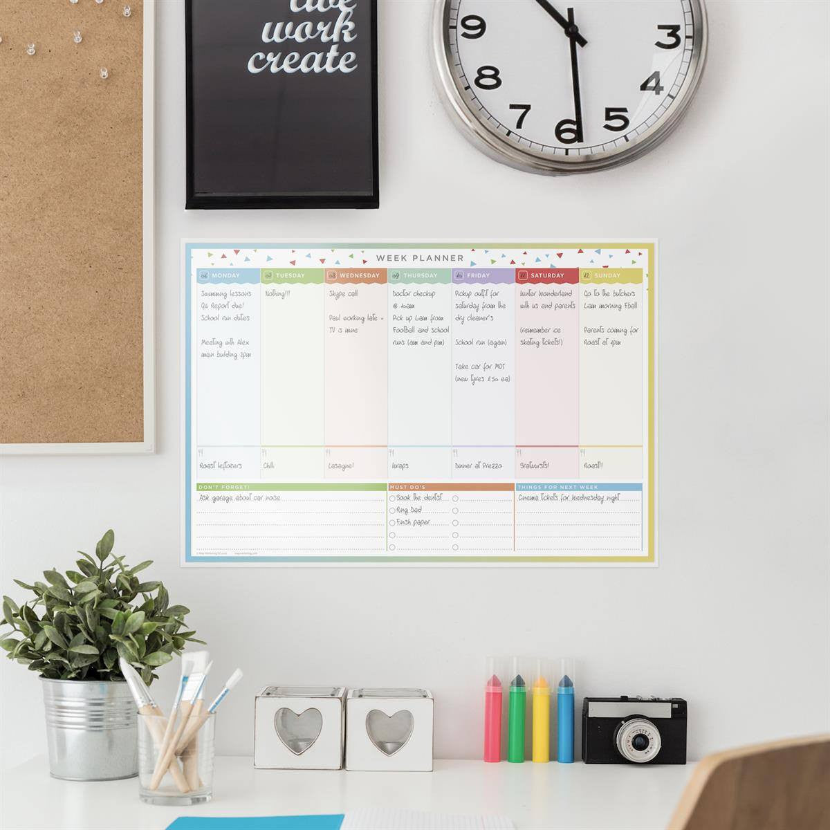 Weekly Laminated Wall Planners