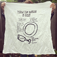how to wash a dish kitchen towel