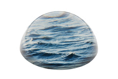 """Memento Mori""  Glass paperweight - The Sea"