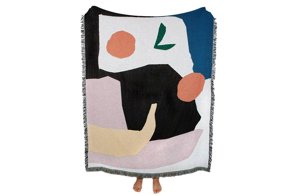 """Mooney"" blanket by Daniel Fletcher for Slowdown studio"