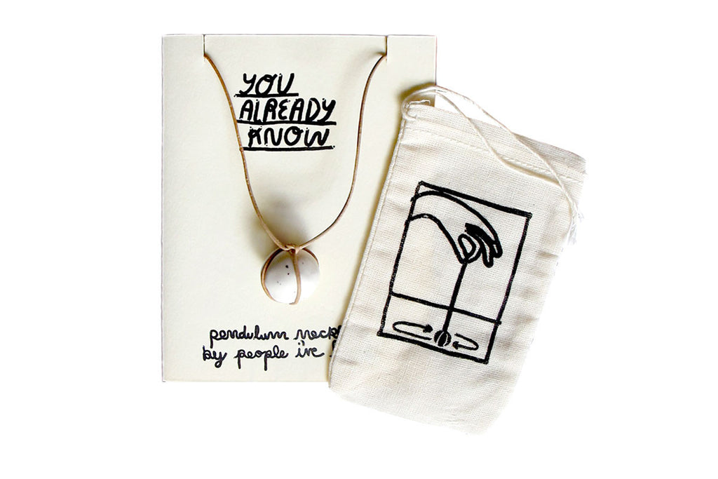 "Pendulum Necklace ""You Already Know"" by People I've loved"