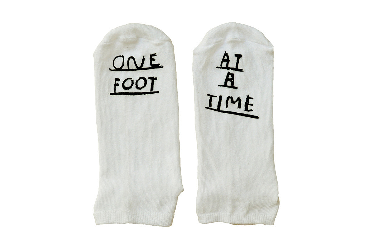 "Socks ""one foot at a time"" by People I've loved"