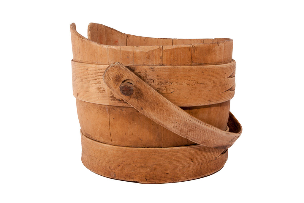 Wooden bucket from the Alps