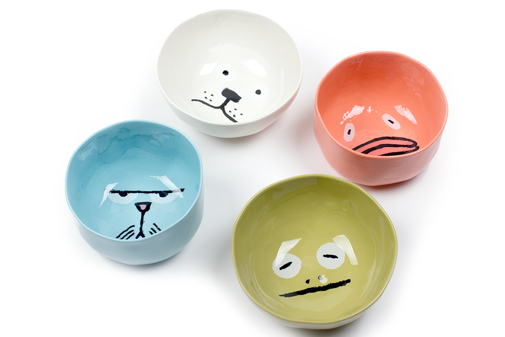 Animal bowls set by Jean Jullien