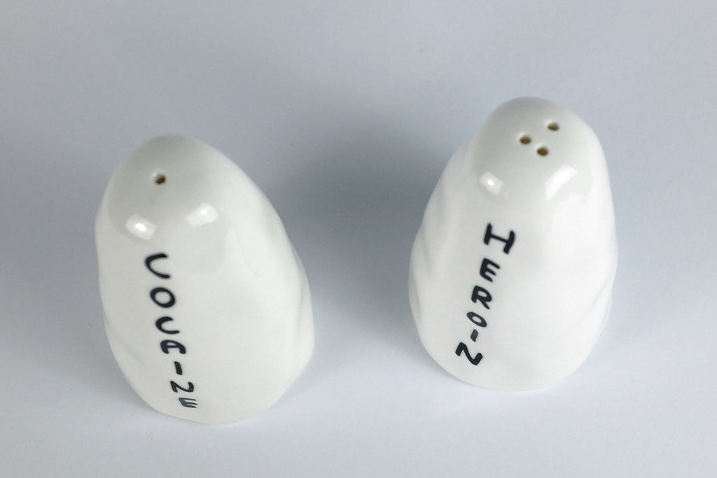 Heroine & Cocaine - Salt & Pepper by David Shrigley