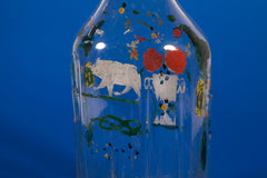 Hand painted glass bottle - Alps craft - work in progress