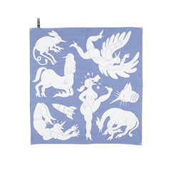 tea towel illustration parra blue