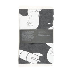 tea towel by Parra - black
