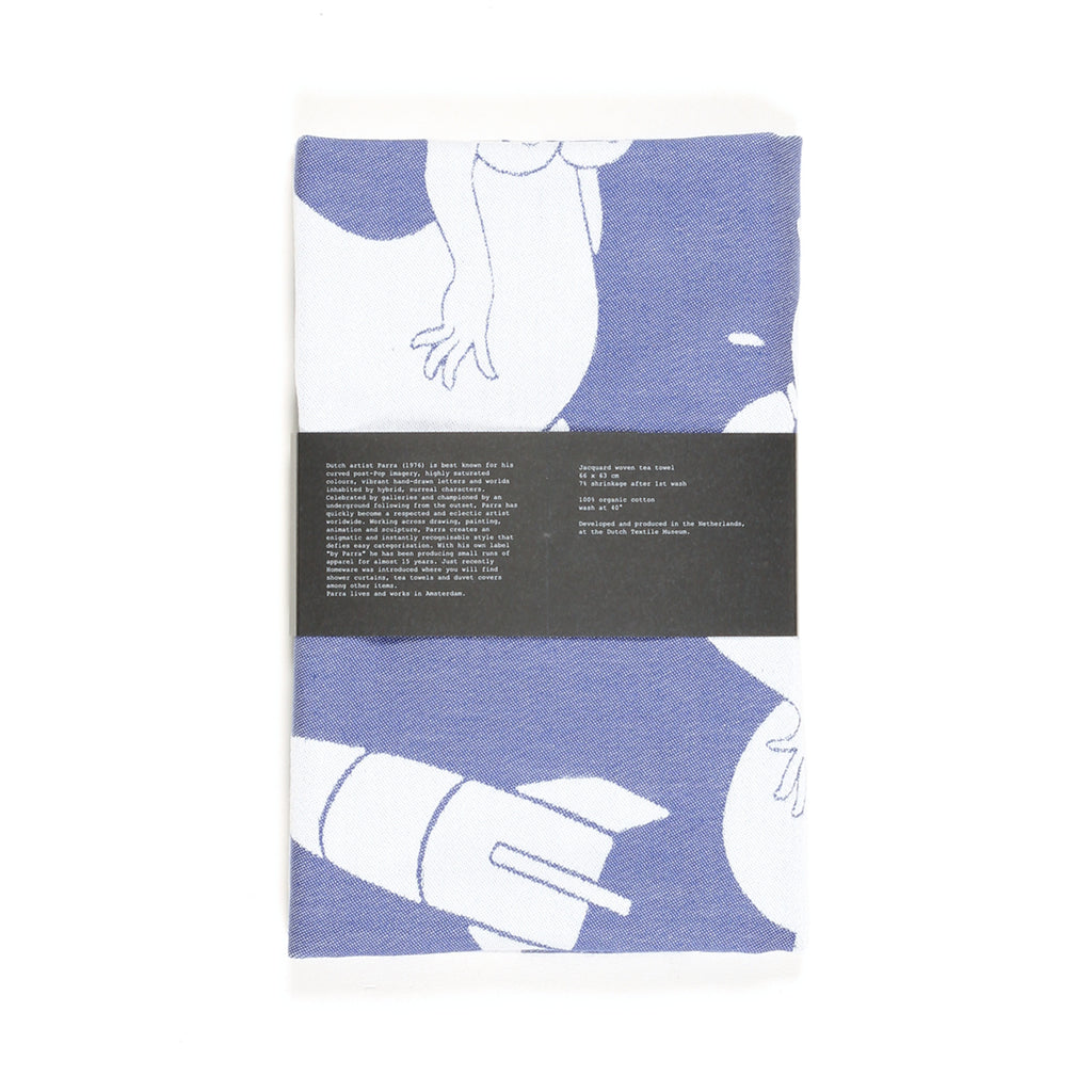 "Kitchen towel ""collage"" by Parra - blue"